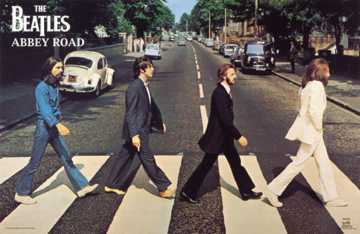 Beatles abbey road poster