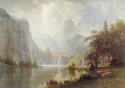 Bierstadt In The Mountains