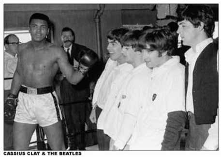 Cassius Clay with the Beatles
