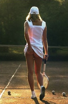 Cheeky Tennis Girl