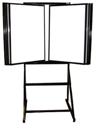 30 Wing / 60 Title Display Rack w/ Floor Stand