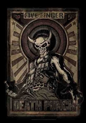 5 Finger Death Punch Fabric Poster Flag