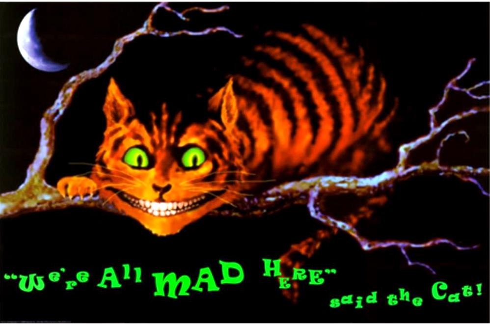 Alice in Wonderland Cheshire Cat alice