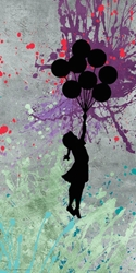 Banksy Balloon Bouquet 12x24