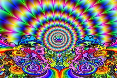 Trippy Hippie Fractal  wp marijuana weed pot cannabis