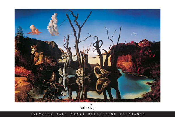 Dali Swans Reflecting Elephants