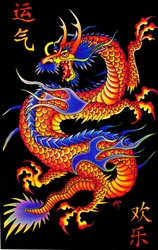 Asian Dragon Blacklight
