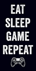 Eat Sleep Game Repeat 12x24