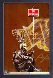 Framed Mini Poster - Banksy No Trespassing