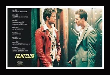 Framed Mini Poster - Fight Club
