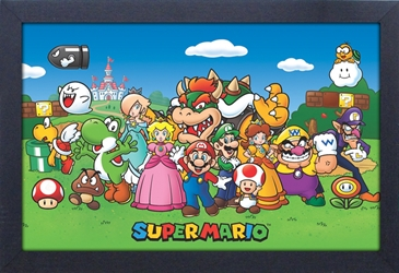 Framed Mini Poster - Super Mario Cast
