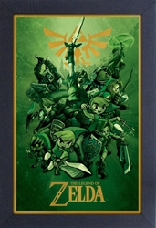 Framed Mini Poster - Zelda