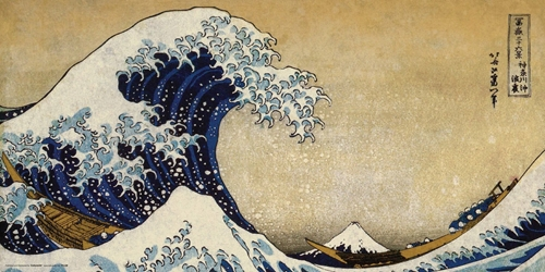 Hokusai Great Wave 12x24