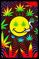 Happy Weed Blacklight  wp