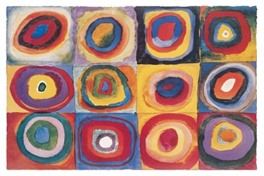 Kandinsky Circles in Squares
