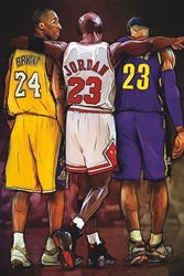 Kobe, Jordan, LeBron chicago bulls los angeles lakers cleveland cavaliers