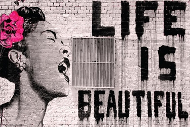 Banksy Life Is Beautiful banksy