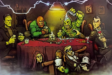 Monsters Playing Poker  big chris art