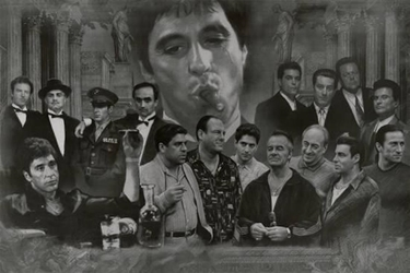 Movie Gangsters  scarface, godfather, goodfellas, sopranos, mafia jj
