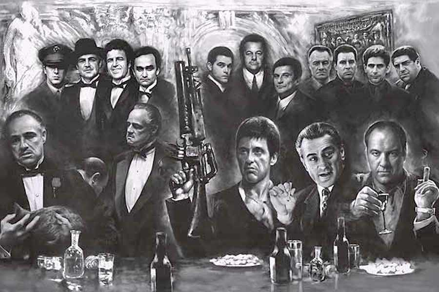 Movie Gangsters  jj, scarface, godfather, goodfellas, sopranos, mafia