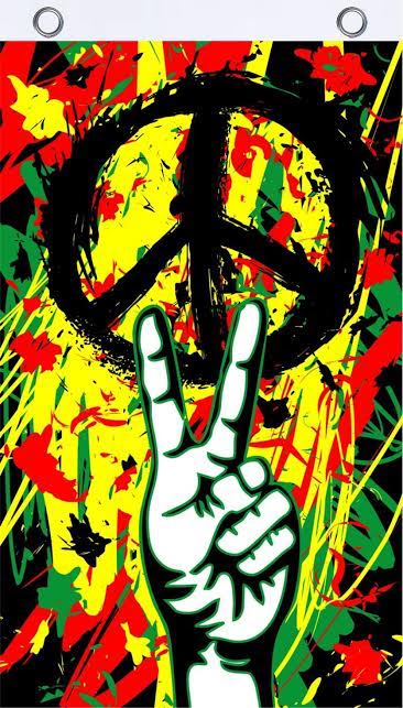Peace Graffiti Flag