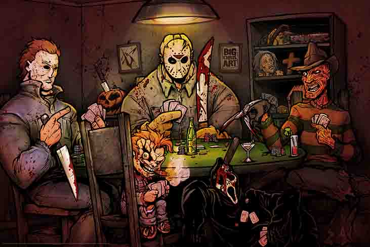 Slashers Playing Poker