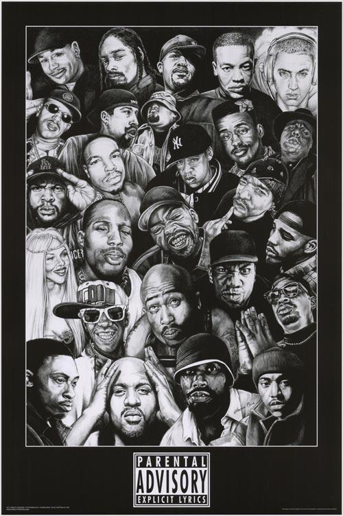 Rap Stars B W 45570
