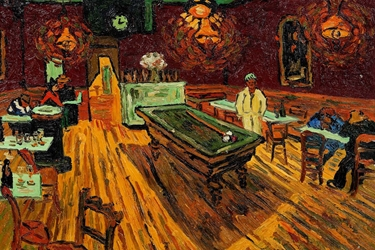 Van Gogh Cafe with Pool Table