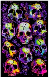 Wall of Skulls Blacklight
