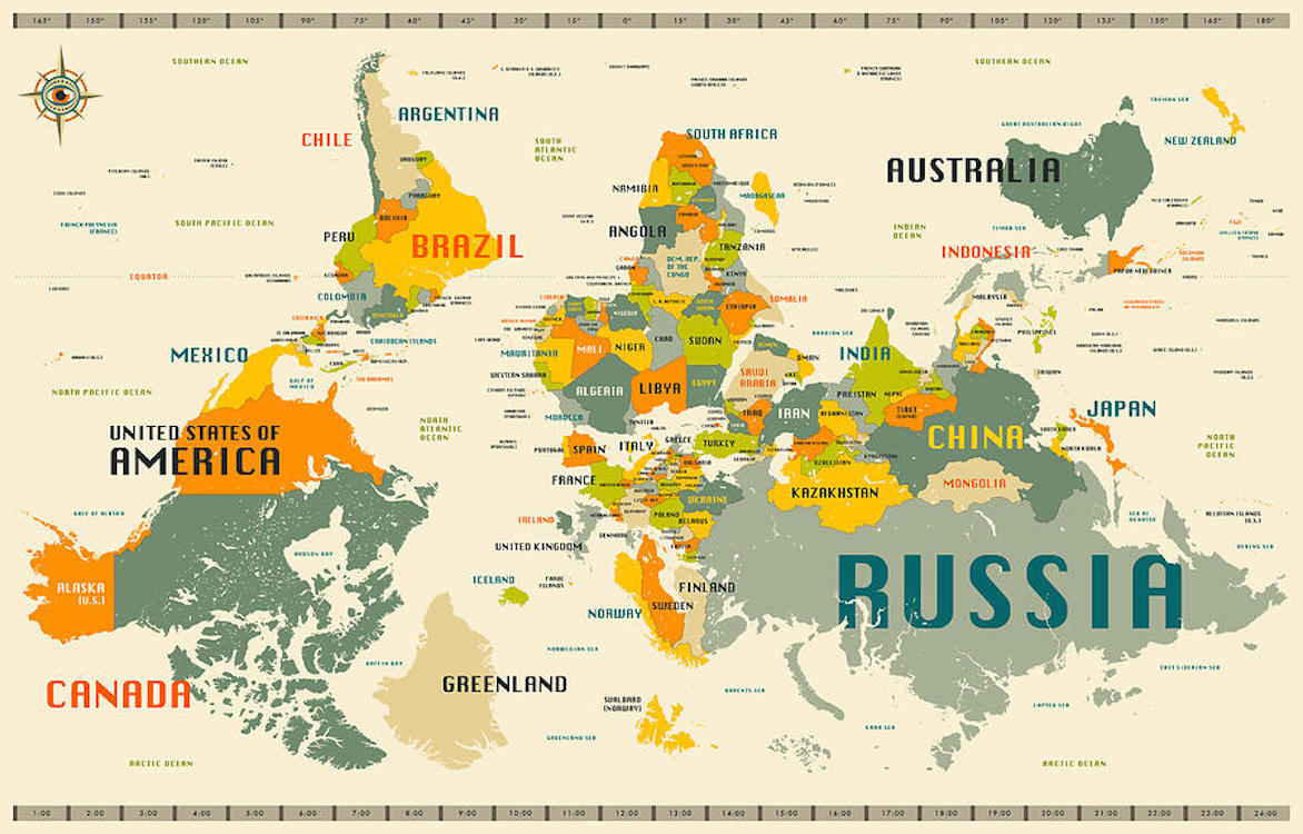 World Map Upside Down #52982