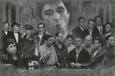 Movie Gangsters  scarface, godfather, goodfellas, sopranos, mafia