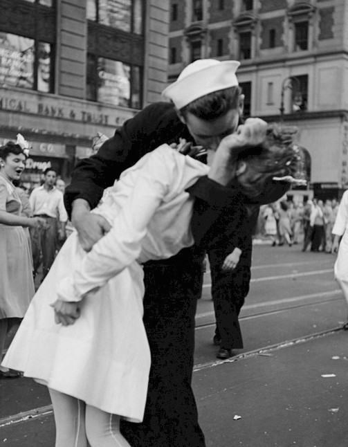 Kissing the War Goodbye war's end kiss. VJ Day